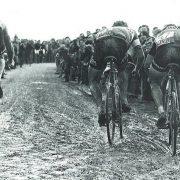 Francesco Moser, Marc de Meyer and Jan Raas bei Paris Roubaix